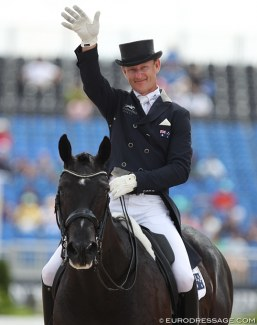 Brett Parbery and DP Weltmieser at the 2018 World Equestrian Games :: Photo © Astrid Appels
