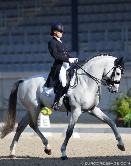 Katrien Verreet and Galliani Biolley at the 2018 CDI Aachen Dressage Days :: Photo © Astrid Appels