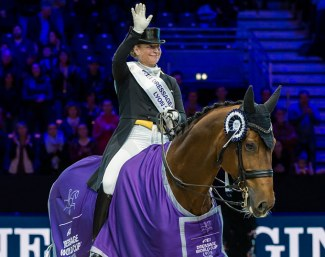 Defending series champion Isabell Werth kicked off her FEI Dressage World Cup 2018/2019 campaign with a convincing win with Emilio at the second leg of the Western European League series in Lyon :: Photo © Christophe Tanière