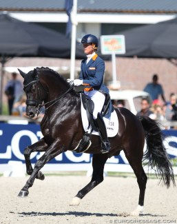 Governor wins silver at the 2018 World Young Horse Championships :: Photo © Astrid Appels