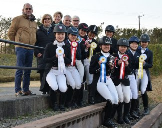 The junior and young riders at the 2018 CDI Gotemba
