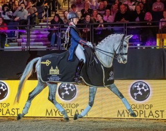 Dujardin and Florentina win the Inter I Kur invitational at the 2018 Liverpool Horse Show