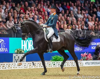 Hans Peter Minderhoud and Dream Boy at the 2018 CDI-W London :: Photo © Jon Stroud