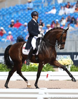 Riccardo Sanavio and the Austrian owned Federleicht competed as individual pair for Italy at the 2018 World Equestrian Games :: Photo © Astrid Appels