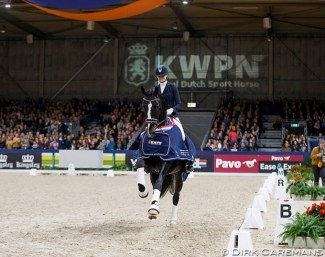 Jameson wins the L-level division at the 2019 KWPN Stallion Competition Finals in Den Bosch :: Photo © Dirk Caremans