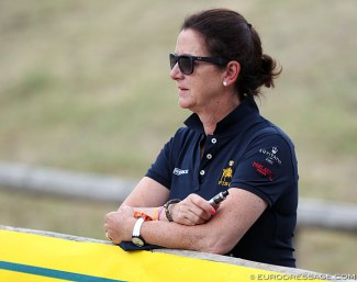 Anna Merveldt already worked as inofficial team trainer at the 2018 European Junior/Young Riders Championships in Fontainebleau :: Photo © Astrid Appels