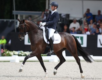 Bart Veeze and Imagine at the 2018 World Young Horse Championships :: Photo © Astrid Appels