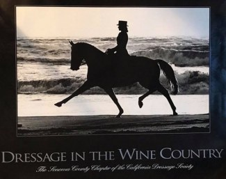 Gwen Stockebrand and Casino as poster heroes for Dressage in the Wine Country