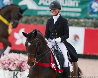 Lindsay Kellock and Floratina consistently scored over 70% at the 2019 Global Dressage Festival :: Photo © Astrid Appels