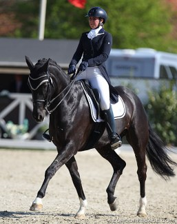 Serena Fumagalli and Black Panter at the 2019 CDI Sint-Truiden :: Photo © Astrid Appels