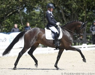 Helen Langehanenberg and Ascenzione at the 2019 Danish WCYH Selection Trial in Uggerhalne :: Photo © Ridehesten