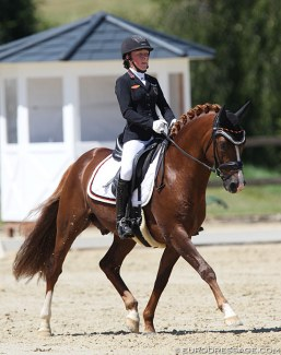 Antonia Busch-Kuffner on Daily Pleasure at the 2019 CDI Leudelange :: Photo © Astrid Appels