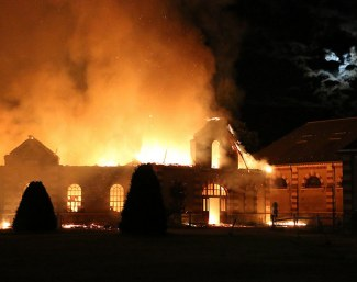 Fire at the French National Stud in Saint-Lô