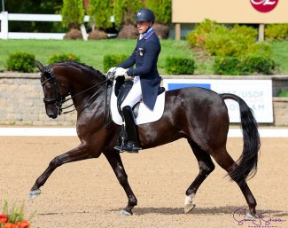 Endel Ots and Lucky Strike at the 2019 U.S. Dressage Championships :: Photo © Susan Stickle