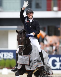 Frederic Wandres and Zucchero OLD win the 6-year old Final at the 2019 World Young Horse Championships :: Photo © Astrid Appels