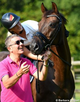Jessica Krieg on Special Edition with trainer Frank Lamontagne :: Photo © Barbara Schnell