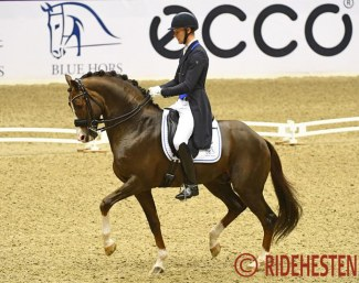 Daniel Bachmann Andersen and Blue Hors Don Olymbrio at the 2019 CDI-W Herning :: Photo © Ridehesten