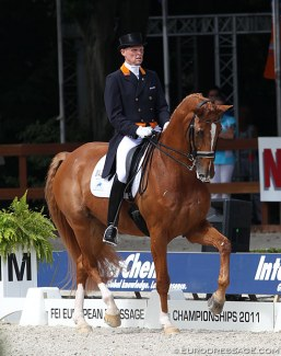 Sander Marijnissen and Moedwil at the 2011 European Dressage Championships :: Photo © Astrid Appels