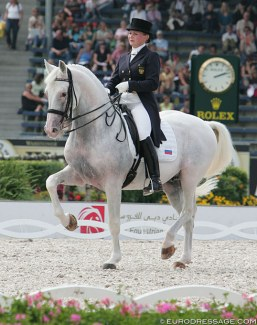 Alexandra Korelova and Balagur at the 2006 World Equestrian Games in Aachen :: Photo © Astrid Appels