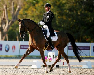 Dongheon Nam and First Edition win the 2019 Asian Dressage Championships in Pattaya :: Photo © Yong Tek Lim