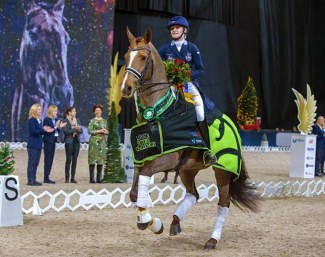 Isabella Tovek and Happiness win the 2019 Lovsta Future Challenge for Under 25 Riders in Stockholm :: Photo © Ronald Thunholm