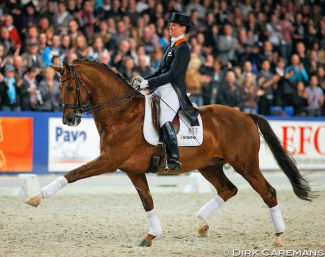 Kirsten Beckers and Jazz at the 2009 KWPN Stallion Licensing :: Photo © Dirk Caremans