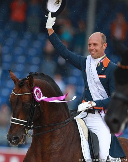 Hans Peter Minderhoud and Johnson at their career high: Kur bronze medal winners at the 2015 European Dressage Championships :: Photo © Astrid Appels