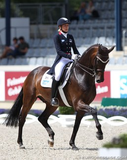 Ingrid Klimke and Bluetooth at the 2018 CDIO Aachen :: Photo © Astrid Appels