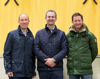 Hanoverian Verband Managing Director Wilken Treu with its two auctioneers Bernd Hickert and Frederik De Backer