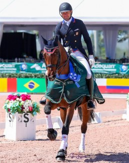 Endel Ots and Sonnenberg's Everdance win the 1* small tour classes at the 2020 Palm Beach Derby :: Photo © Sue Stickle