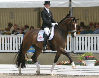 This is one of the young horses that competed at the 2005 World Young Horse Championships and became a Grand Prix horse later on :: Photo © Astrid Appels