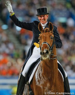 Heike Kemmer and Bonparte win team gold and individual bronze at the 2008 Olympic Games :: Photo © Dirk Caremans