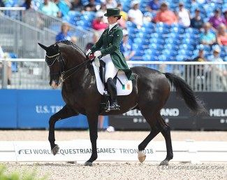 Judy Reynolds and Vancouver K at the 2018 World Equestrian Games :: Photo © Astrid Appels