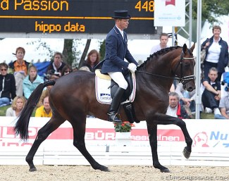 Serge Cantin and Grand Passion at the 2011 World Championships for Young Dressage Horses :: Photo © Astrid Appels