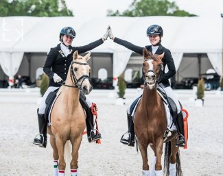 Pony riders competing and having fun at the CDI Budapest at Stable Unikornis in 2019 :: Photo © Lukasz Kowalski