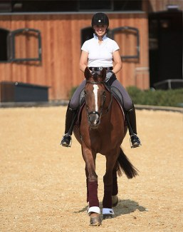 Terhi Stegars and Thai Pee are reunited at Contern Dressage Center