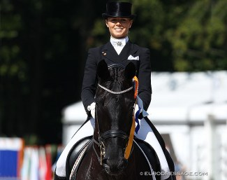 Stella Charlott Roth and Diva Royal in the Under 25 division hosted at the 2011 European Dressage Championships in Rotterdam :: Photo © Astrid Appels