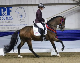 Eleanor Darling and Godric's Dionysus at the 2020 British Young Pony Championships