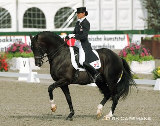 Coby van Baalen and Ferro at the 1999 European Dressage Championships in Arnheim :: Photo © Dirk Caremans