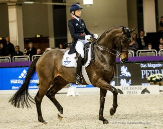 Ingrid Klimke and Bluetooth at the 2019 Louisdor Cup Finals in Frankfurt :: Photo © Petra Kerschbaum