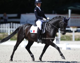 Cassandra Rouxel and Under Cover Fast at the 2020 European Pony Championships :: Photo © Astrid Appels